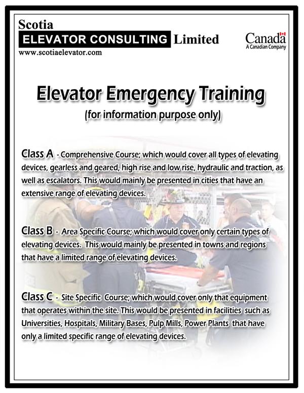 Scotia Elevator Consulting - Training Programs